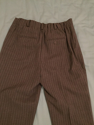 Gri cizgili havuc pantolon