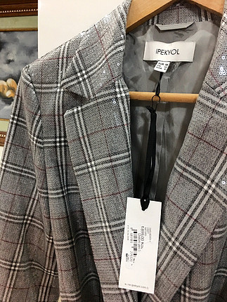 38 Beden gri Renk İpekyol ceket