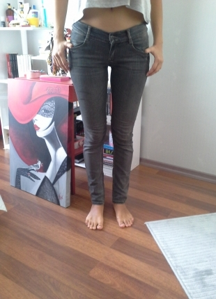 Codentry gri dar paça pantalon