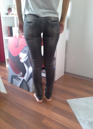 F & F Codentry gri dar paça pantalon