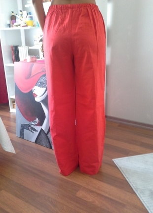 Markasız Ürün Kırmızı pijama altı