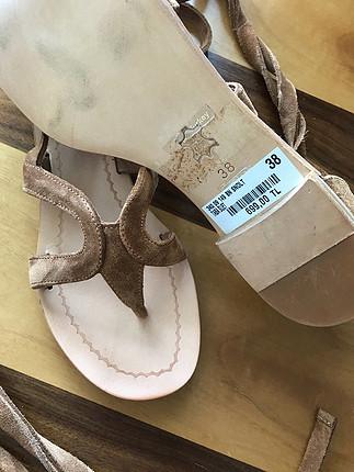 38 Beden taba Renk Süet sandalet