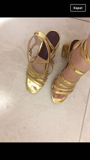 Zara gold ayakkabı