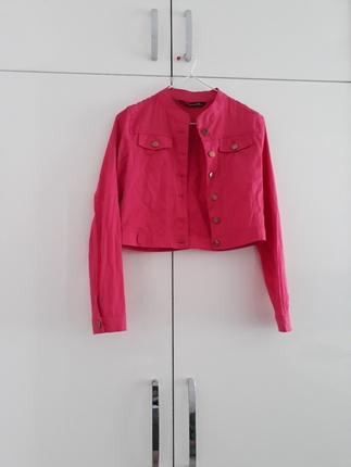 pembe kısa ceket