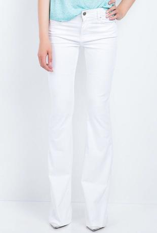 Tiffany&tomato; Marka İspanyol Paça Beyaz Kot Pantolon Tiffany & CO.