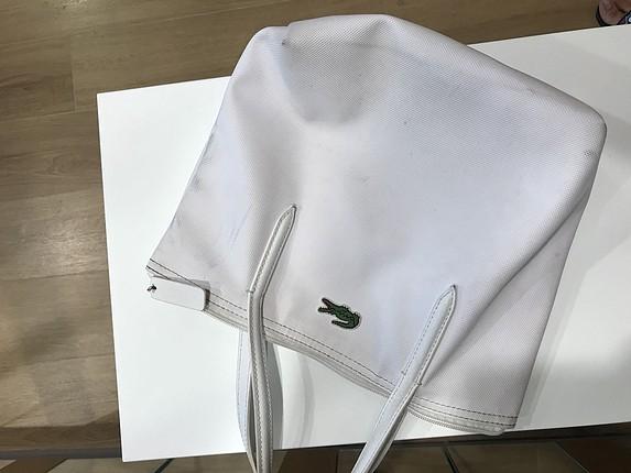 Mini Lacoste Beyaz Çanta