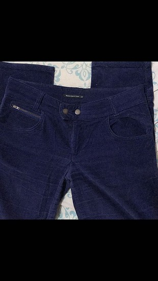 Fitilli kadife pantolon