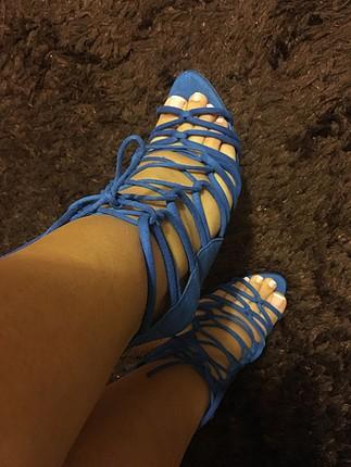 Zara mavi ayakkabı