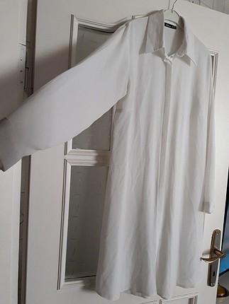 kırık beyaz ince çok rahat pantolon üstü tunik