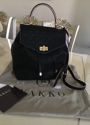 l Beden siyah Renk Vakko çanta