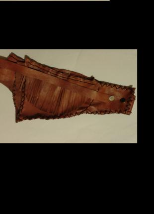 crazy leather waist bag