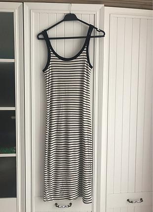 Mango Çizgili elbise