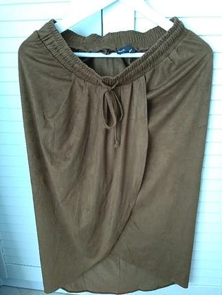 batik marka süet görünümlü dizde şık etek