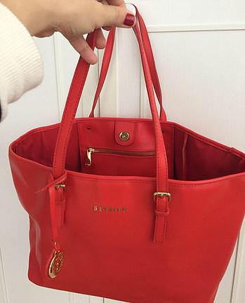 universal Beden kırmızı Renk Orjinal Beymen nar çiçeği çanta
