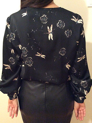 34 Beden siyah Renk Zara Yusufçuklu Bluz
