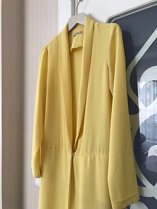 s Beden sarı Renk Bershka Ceket