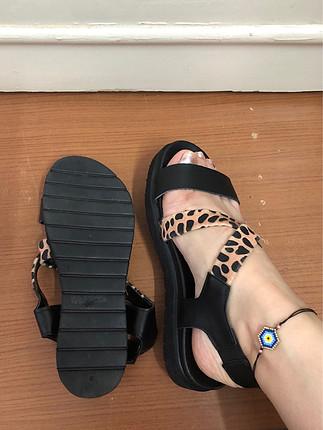 Leoparlı sandalet