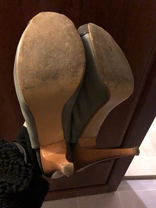 39 Beden gri Renk Bootie tarz ayakkabı