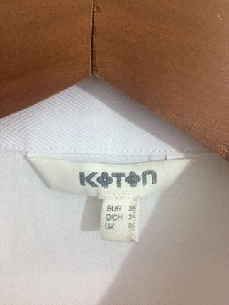 36 Beden Koton beyaz gömlek