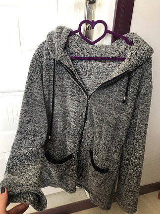 American Retro peluş kürk ceket