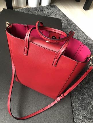 Kırmızı tote çanta