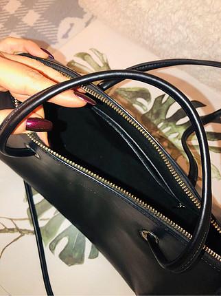 universal Beden Deri siyah çanta