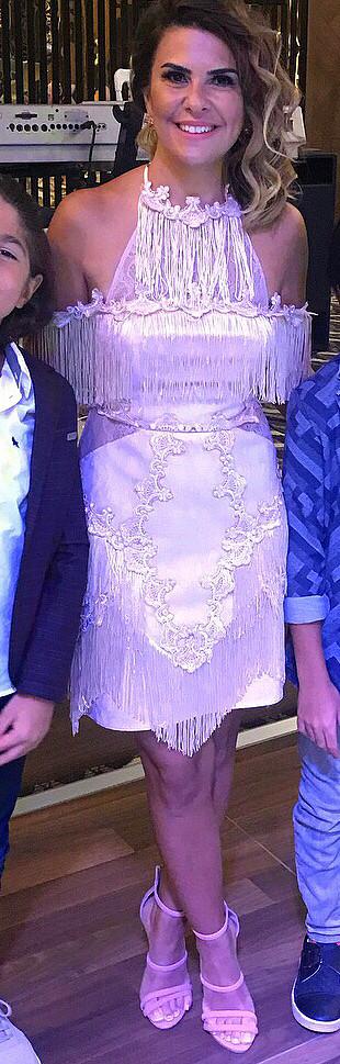 Pudra mini abiye elbise