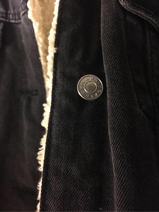 s Beden siyah Renk Topshop içi kürklü, kot mont