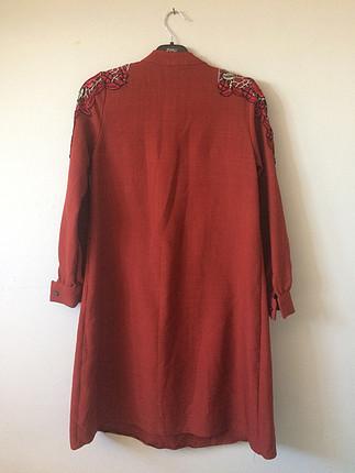 Omuz dantel detaylı tunik elbise