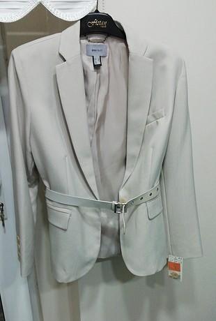 Bej yazlık bayan ceketi