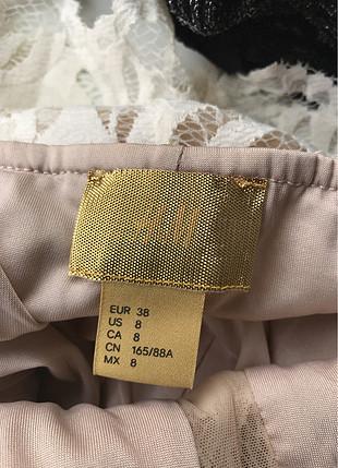 H&M Tül Detaylı Elbise