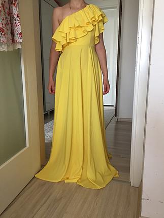 38 beden sarı elbise