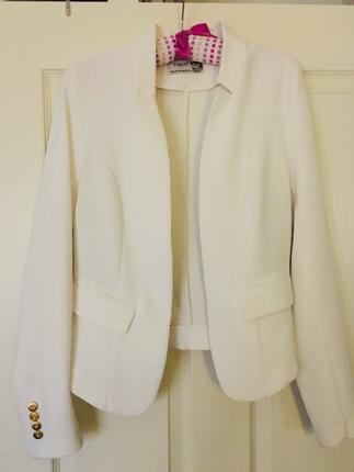 Beyaz Blazer Ceket Blazer