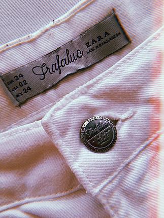 xs Beden beyaz Renk Zara Şort