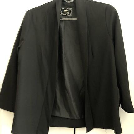 Siyah şık ceket kumaş
