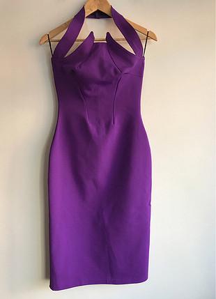 Designer Mor elbise