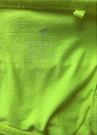xl Beden sarı Renk Neon yeşili t-shirt