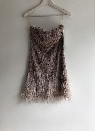 36 Beden Tüylü taşlı Elbise