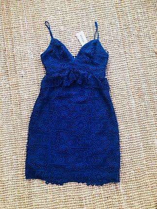 Guess marka, aşırı şık dantel elbise