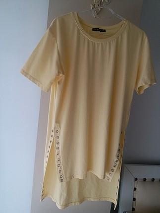 sarı bayan tişört