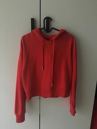 Kırmızı Sweatshirt Bershka