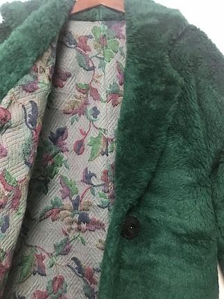 Yeşil peluş kürk