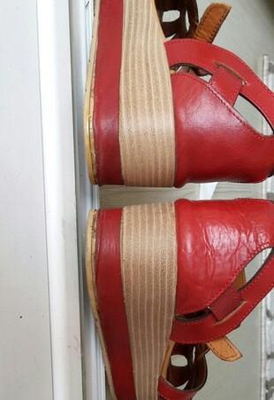 39 Beden kırmızı Renk Sandalet