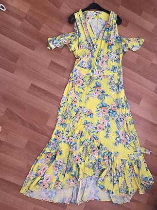 Renkli yazlık elbise