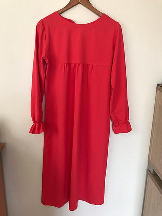 Kırmızı uzun tunik elbise