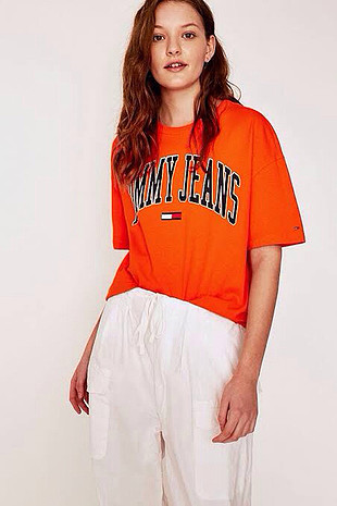 Tommy Jeans Collagiate Orange Oversized