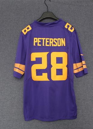 diğer Beden NIKE NFL RUGBY ON FIELD VIKINGS PETERSON 28 PURPLE YELLOW JERSEY