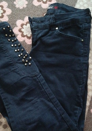 paçası taşlı esnek pantolon