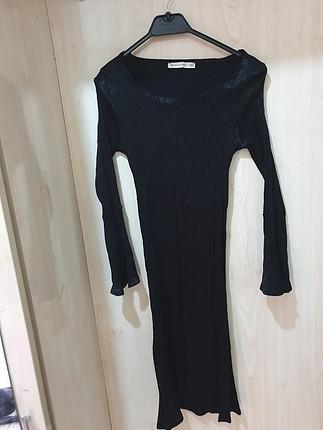 S beden siyah elbise
