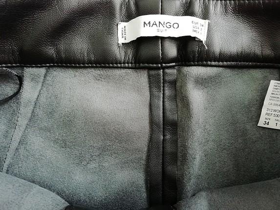 mango siyah deri pantolon